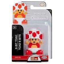 "8 Bit Toad 2.5"" Mini Figure World of Nintendo NEW Super Mario"