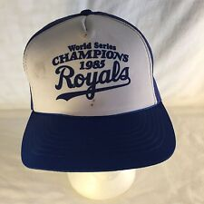 VTG 1985 Royals World Series Champions Trucker Mesh Snapback Hat Cap Baseball