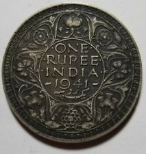 1941 India Silver 1 Rupee .1874 ASW Priced Right Shipped FREE C99