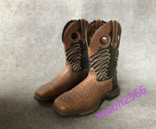 New Cowboy Mens Waterproof Chocolate Square Steel Toe Work Boots Combat Boots US