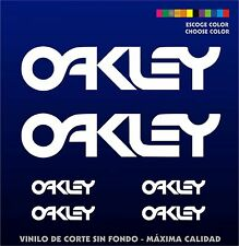 6 X PEGATINAS -STICKER- VINILO - Oakley - Sponsor - Vinyl -Aufkleber-Autocollant