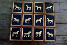 Collection of the 12x Wall Art Royal Hampshire ''Horse'' Brass ? Gold? Home Art