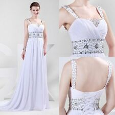 Grecian Wedding Dress Beaded Goddess Bride Drape Party Gown Cruise Wedding