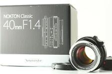 *TOP MINT* Voigtlander Nokton Classic 40mm f/1.4 M.C VM Leica M Mount Lens JAPAN
