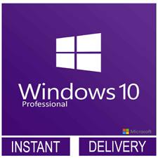 Microsoft WINDOWS 10 PRO 32 / 64BIT PROFESSIONAL LICENSE KEY Instant Delivry KEY