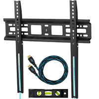 "Flat Fixed TV Wall Mount for 20"" - 55"" TV up to VESA 400 and 115 lbs."