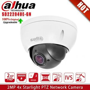 Dahua SD22204UE-GN 2MP Starlight 4X Zoom PTZ POE WDR IVS Security Dome IP Camera