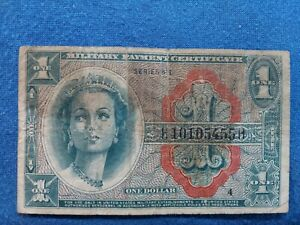 1964 Military Payment Certificate MPC One Dollar $1 Series 611 *D14