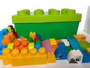 LEGO DUPLO BOX Green Storage Box + Lego Duplo Bricks + Other Bricks 18 Months +