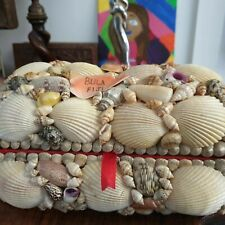 Vintage  Shell Souvenir Treasure Box