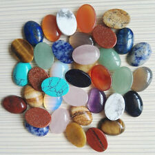 Wholesale 12pcs/lot natural gemstone mixed Oval CAB CABOCHON stone beads 12x16mm