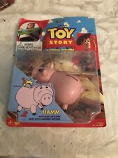 Hamm with Pop Up Coin Action Figure New 1995 Toy Story Thinkway Ham Amricons