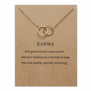 Elegant Double Ring Round Necklace Clavicle Chain Women Men Charm Jewellery Gift