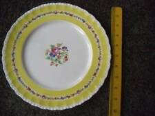 """Grindley English China The Elmfield Dinner Plate 10"""" Yellow Floral Scalloped"""