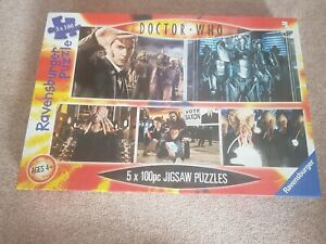 Doctor Who Ravensburger Jigsaw Puzzles - 5 X 100 Piece New Wrapped Dr Who