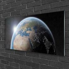 Acrylglasbilder 100x50 Wandbild Druck Erdball Weltall