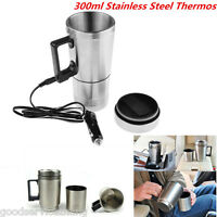 300ml Portable Thermos Stainless Steel Coffee Maker Tea Pot Cigarette Lighter