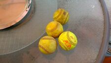 Lot of 4 Softballs - Used