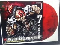 Five Finger Death Punch - And Justice for None Red Black Marbled 2 Vinyl LP NEU