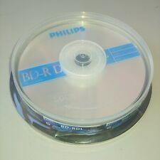 10 PHILIPS 50GB Blank Blu-Ray BD-R DL 6X Dual Layer BR5S6B10F/27