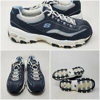 Skechers D'Lites Blue Comfort Walking Tennis Shoes Sneaker Womens Size 8.5