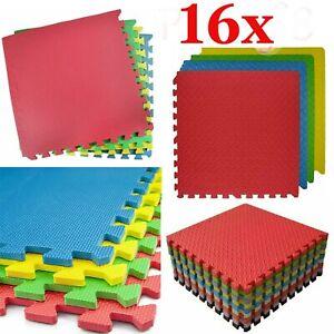 16Pcs Eva Interlocking Soft Kid's Activity Foam Play Mat Gym Tiles Floor 60x60cm