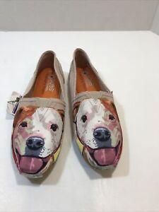 Bobs Skechers Shoes Slip-On Dog Face Womens SZ 7.5 M