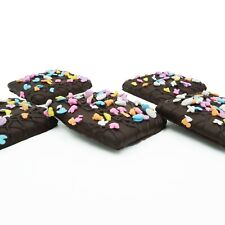 Philadelphia Candies Easter Faces Graham Crackers Dark Chocolate Covered 6 Ounce