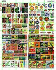 N026 DAVE'S DECALS  N SCALE VINTAGE ADVERTISING GROCERY CANDY GAS OIL SIGNAGE