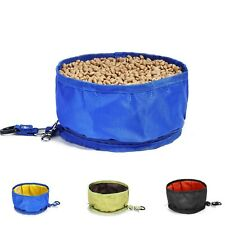 2 Pc Travel Pet Bowl Water Food Portable Dog Dish Cat Feeder Folding(black)