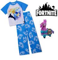 Licensed FORTNITE Loot Llama Pinata Short Sleeve Pants Pajamas PJ Set FREE Plush