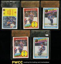 Lot(5) 1982-84 O-Pee-Chee Hockey Wayne Gretzky, BGS Raw Review 6.5 to 8.5