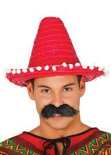 Tamaño Para Niños Rojo Sombrero de paja mexicano Sombrero 1551064dd20