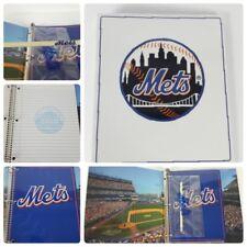 "New York Mets Baseball 2001 ""Back to School"" Book Binder Pencil Case Spiral Note"