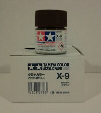 Tamiya acrylic paint X-9 Brown. 10ml Mini.
