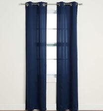 "4 Sun Zero Panels Putnam Navy Blue Room Darkening Curtain Panels Set, (84"") New"