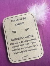 Mum To Be Baby Guardian Angel Sterling Silver Personalised Earring Gift. Saccos