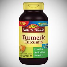 Nature Made TURMERIC CURCUMIN Antioxidant Herbal Supplement - 60 Capsules