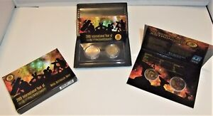 Australian 2009 International Year of Astronomy 2 Coin Proof and UNC Sets