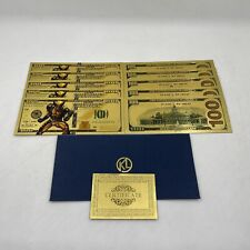 10pcs US Dollar Super Hero Wolverine Gold Banknotes for Fan Collection Nice Gift