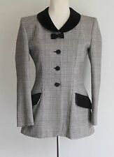 Moschino Cheap N Chic Alpaca Blend Houndstooth Woven Riding Jacket Size Uk 8/10