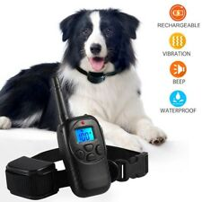 Waterproof Shock Collars 1000FT Electric Dog Fence System Remote Control 3 Modes