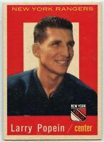 1959-60 Topps Hockey #21 Larry Popein VG-EX Condition (2020-13)