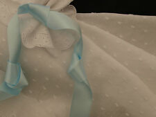 White Clipped Hail Spot Cotton Voile Fabric - Smocking - 140cm x per half-metre