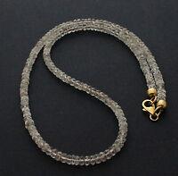 Edle Topas Kette edelsteinkette Imperial-Topas facettierte halskette Topaz 46 cm