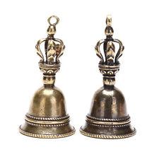 Messing Handwerk Magic Bell Wind Bell Tibetan Bronze Bell Schlüsselbund Anhän SJ