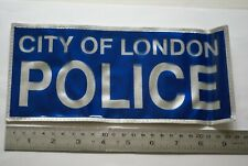 Obsolete City of London Police high visibility patch, large size
