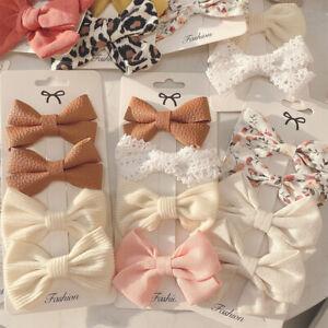 4pcs/Set Bow Crown Baby Girls Hair Clip Kids Children Hairpins Princess Barrette