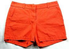J Crew Women's Chino Shorts Size 0 Solid Orange Pockets