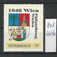 Österreich PM personalisierte Marke Philatelietag 1040 WIEN 8016646 **